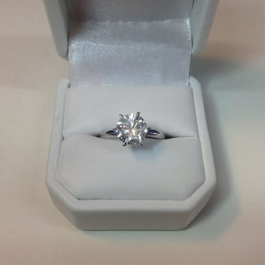 here we have a huge 204ct e vs2 enhanced engagement ring now i must say shes big and sparkly and just waiting to be up on a finder for the first time - Huge Wedding Rings